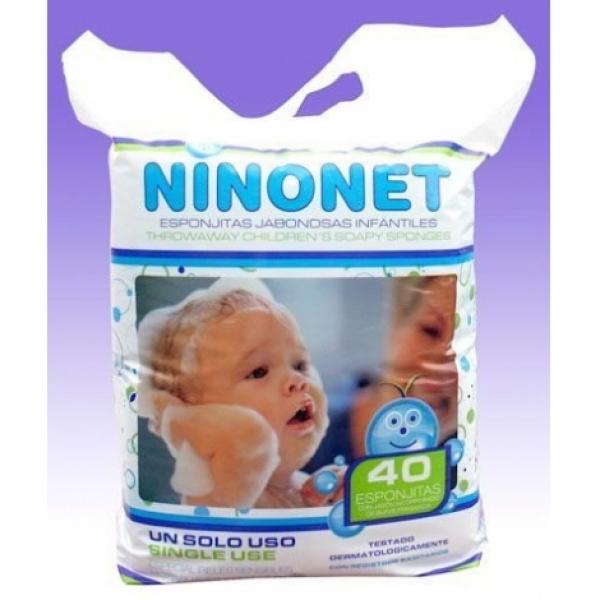 Одноразовая губка пенообразующая для детей Ninonet, 12х10 см (за штуку)