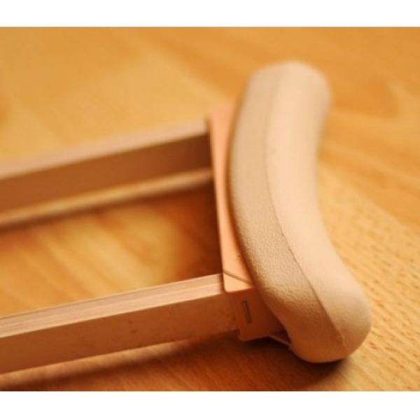 Прокат костылей подмышечных деревянных с мягкими ручками, модель 01-КИ